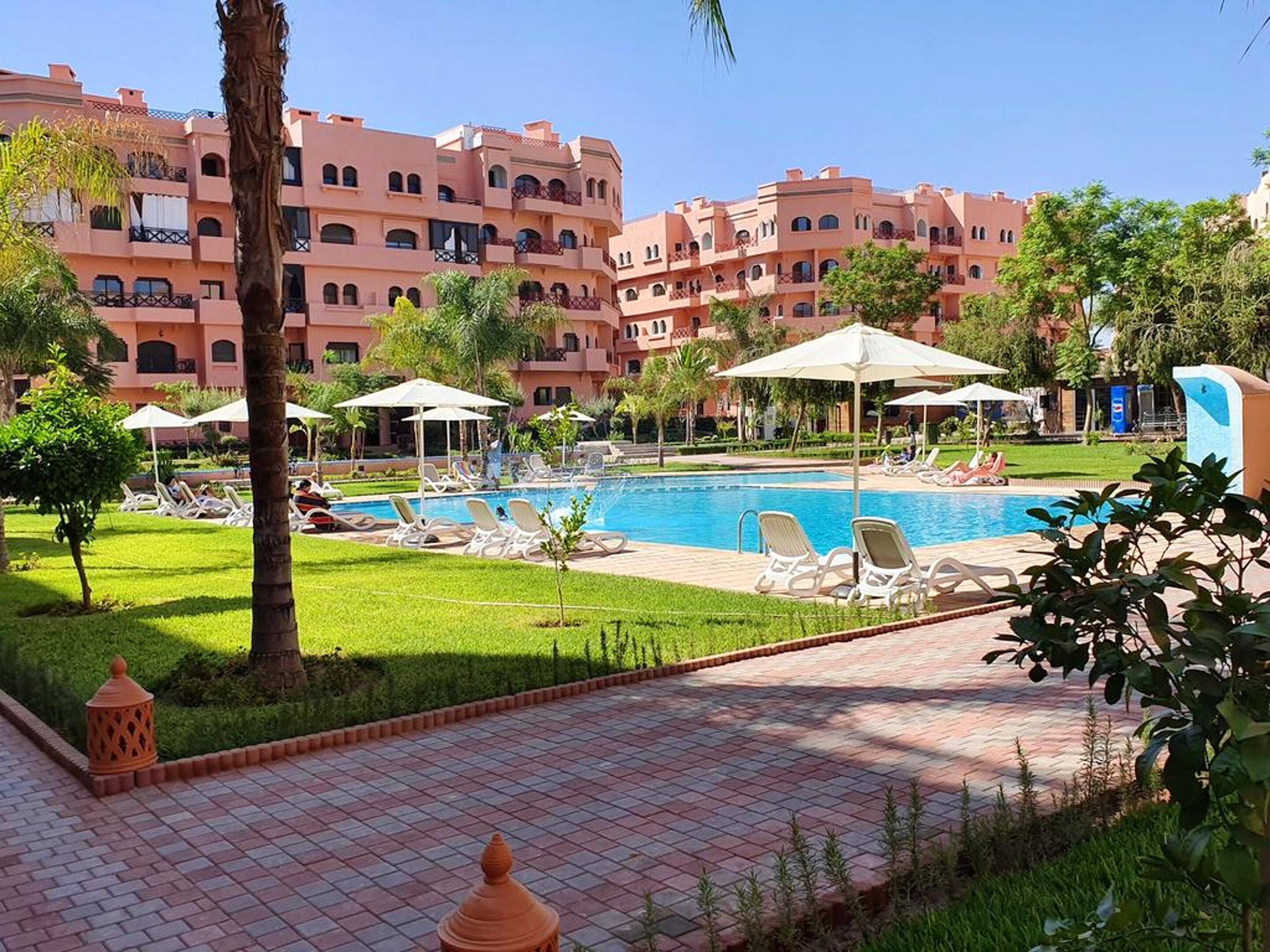 Apartment With 2 Bedrooms In Marrakech,  With Shared Pool,  Furnished Terrace And Wifi