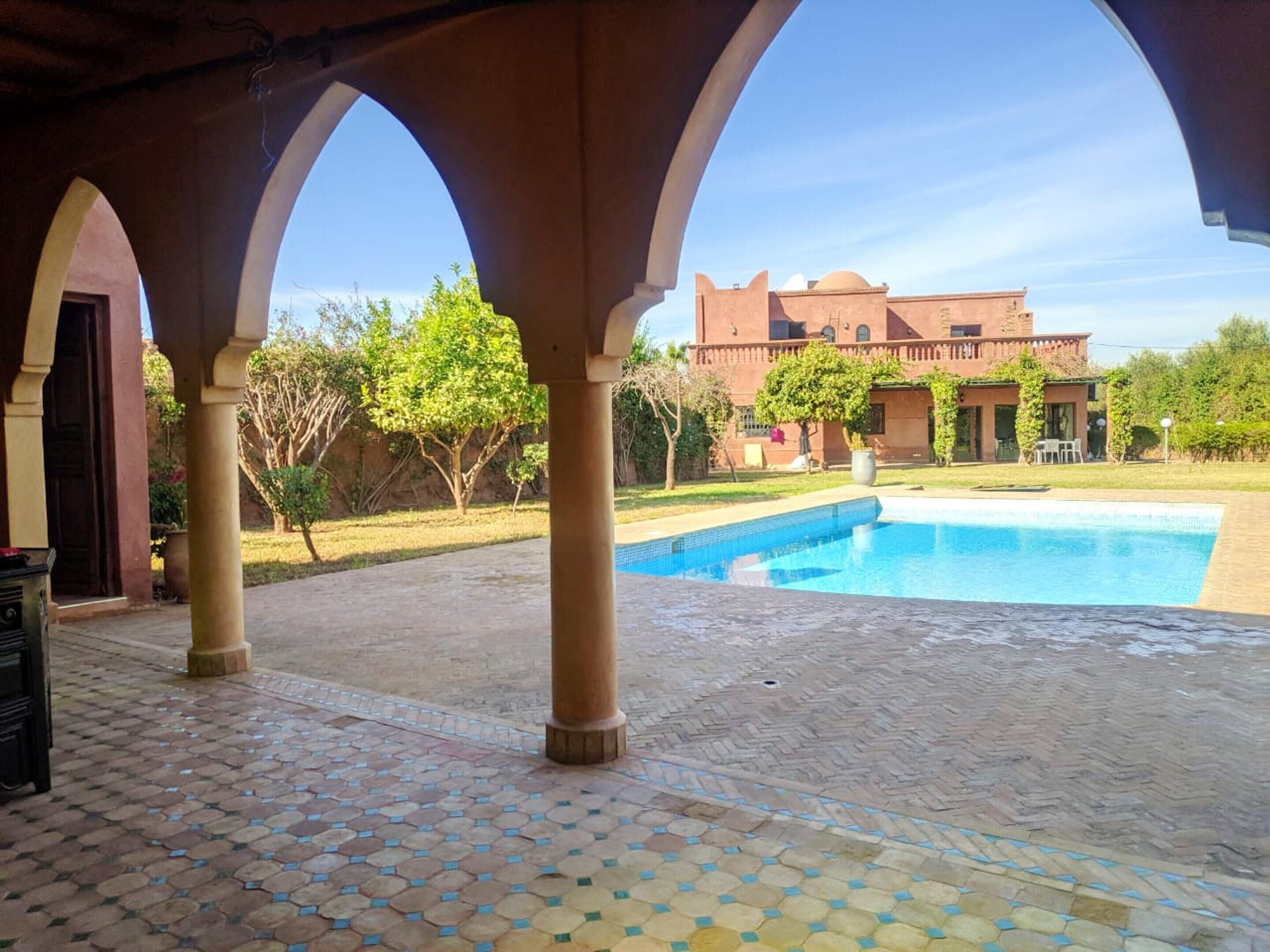 Villa With 5 Bedrooms In Marrakech With Wonderful Mountain View Private Pool Enclosed Garden