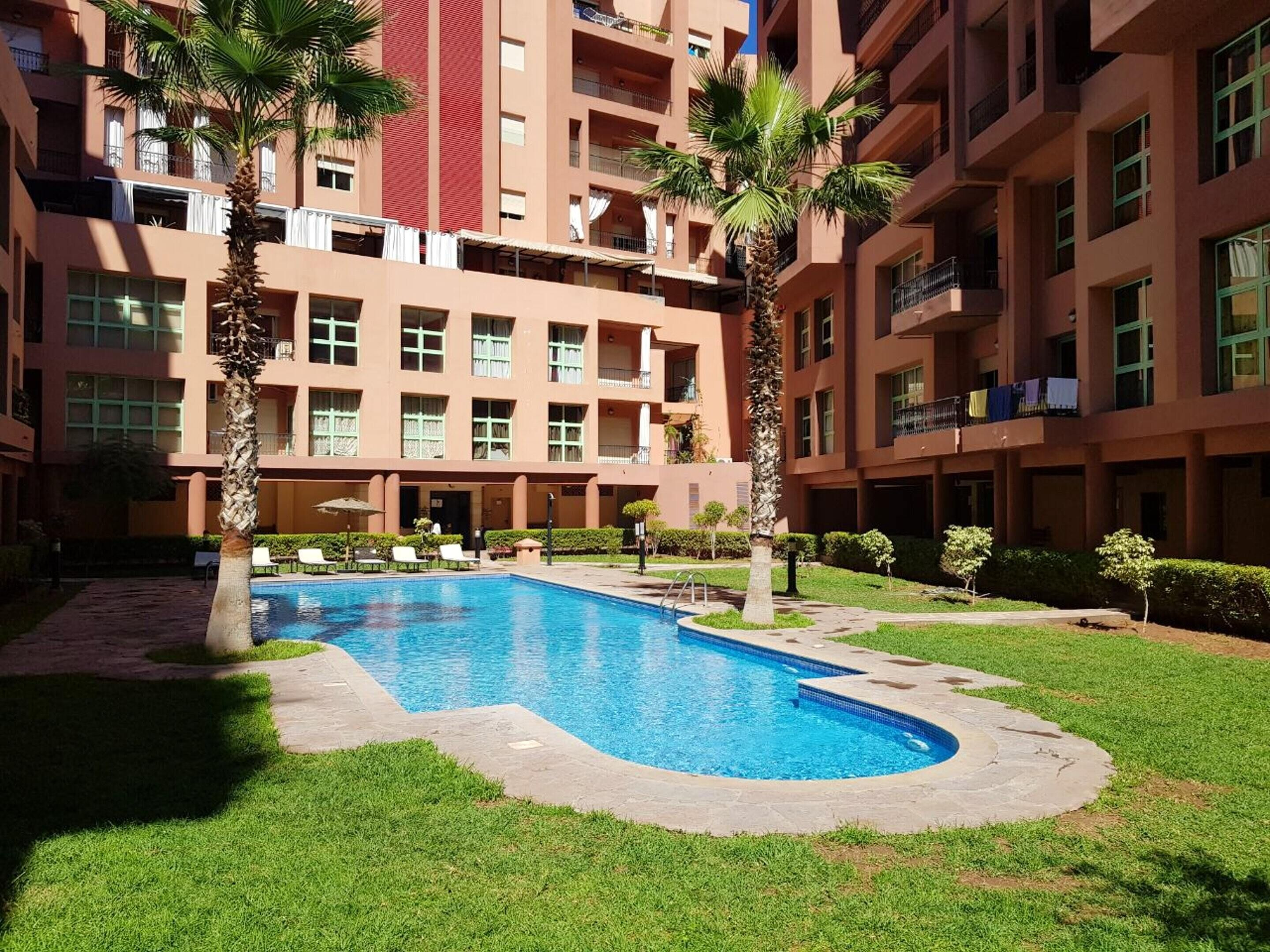 Apartment With 2 Bedrooms In Marrakech,  With Shared Pool,  Enclosed Garden And Wifi
