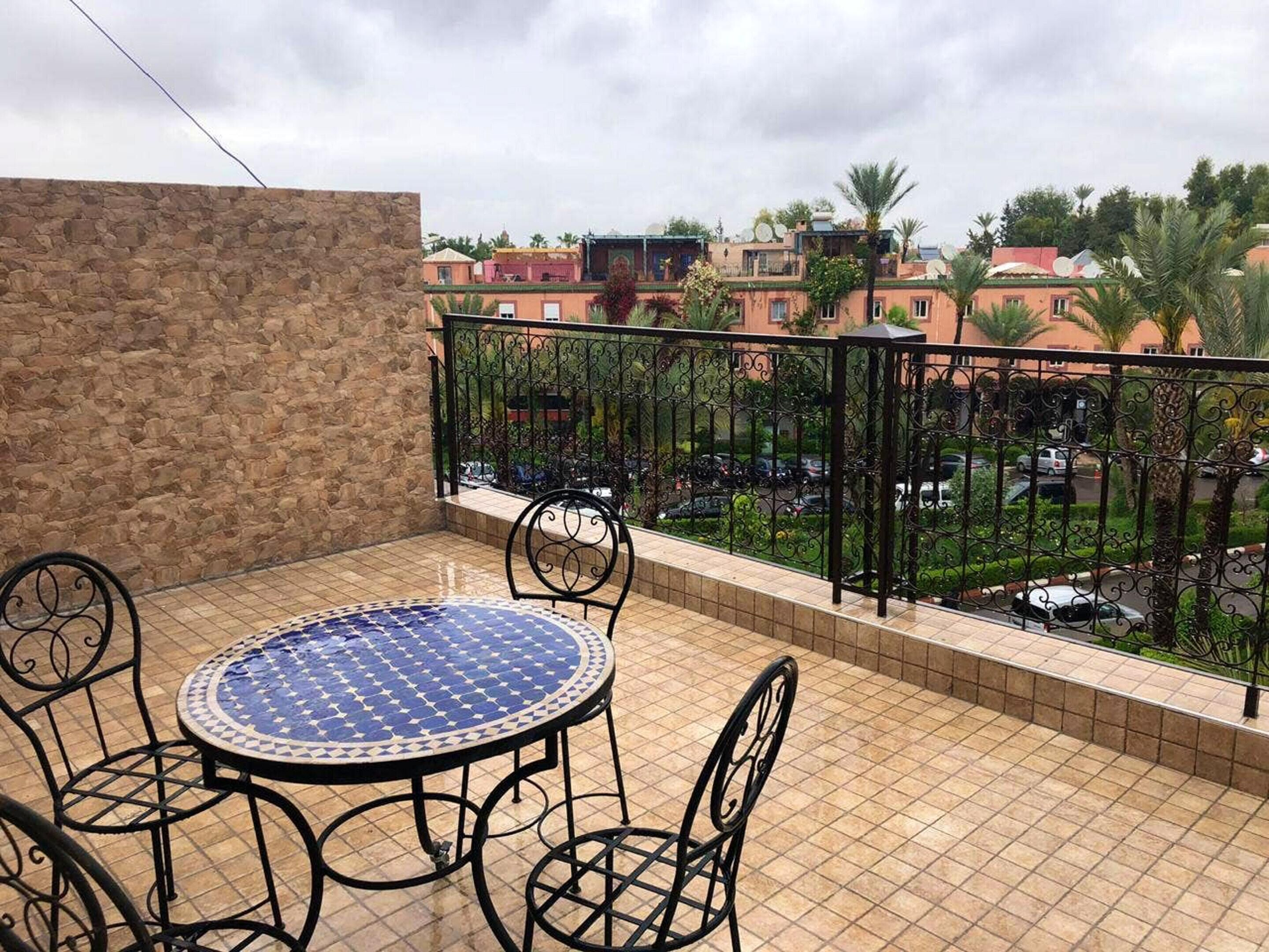 Apartment With 3 Bedrooms In Annakhil Marrakech With Shared Pool