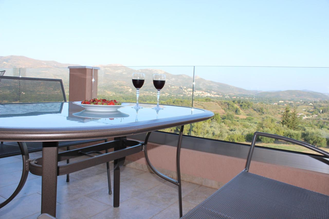 Panoramic Secluded Lux Villa Melilofos On A Hill