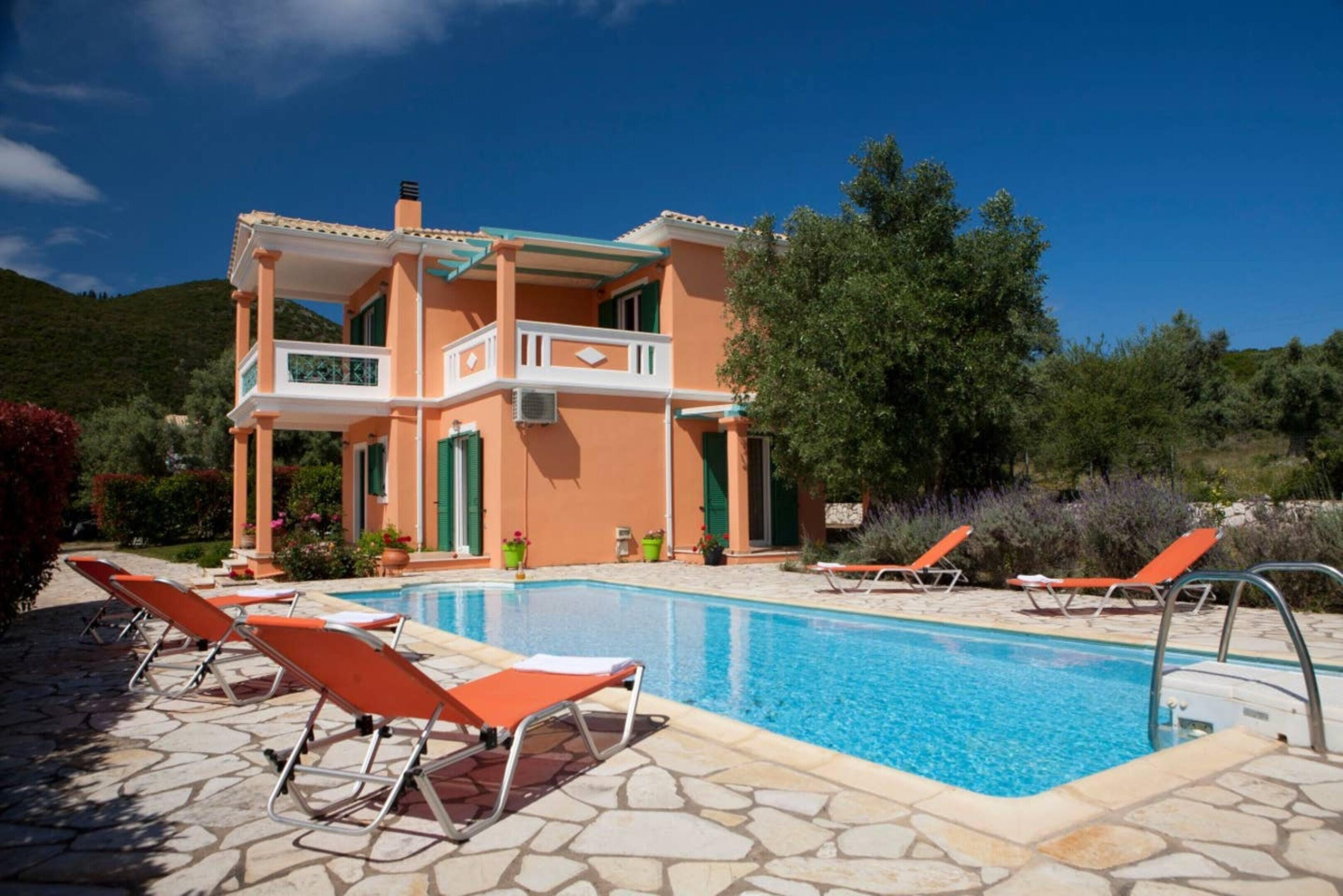 Villa With 3 Bedrooms In Lefkada,  With Private Pool And Enclosed Garden - 2 Km From The Beach