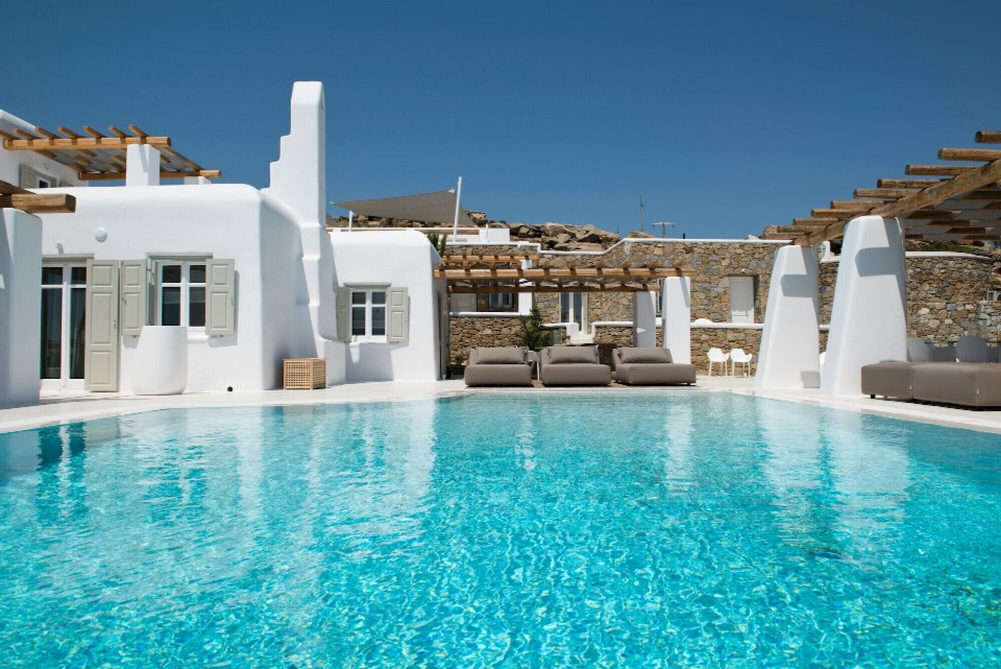 Perfect 8br Villa In Tourlos With Private Pool