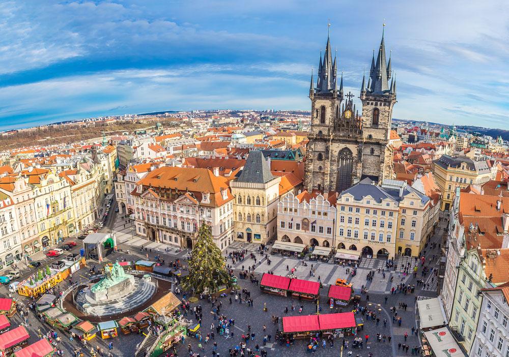 Revelion Praga avion